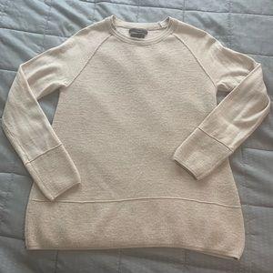 Tahari Tan 100% Extra fine Marina Wool Sweater M